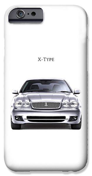 Jaguars iPhone Cases - Jaguar X Type iPhone Case by Mark Rogan