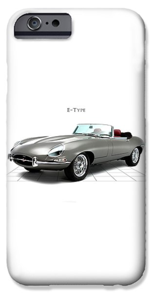 Jaguar E Type iPhone Case by Mark Rogan