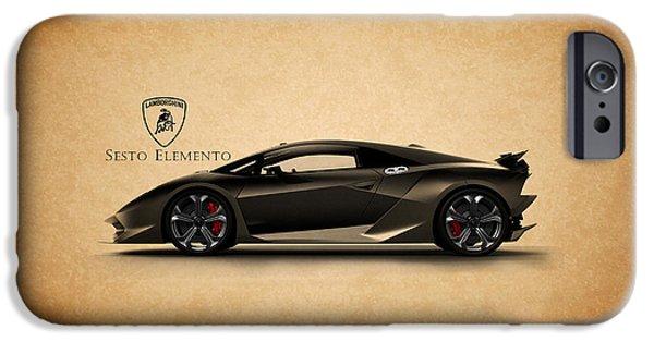 Phone iPhone Cases - Lamborghini Sesto Elemento iPhone Case by Mark Rogan