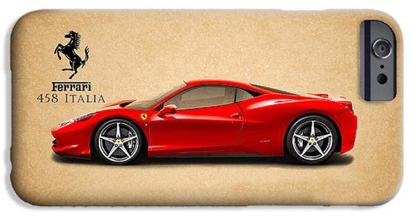 Iphone iPhone Cases - Ferrari 458 Italia iPhone Case by Mark Rogan