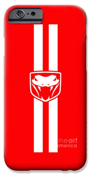 Dodge iPhone Cases - Dodge Viper Red phone case iPhone Case by Mark Rogan