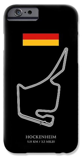 Ayrton Senna iPhone Cases - Hockenheim iPhone Case by Mark Rogan