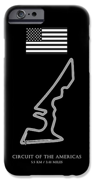 Circuit iPhone Cases - Circuit of the Americas iPhone Case by Mark Rogan