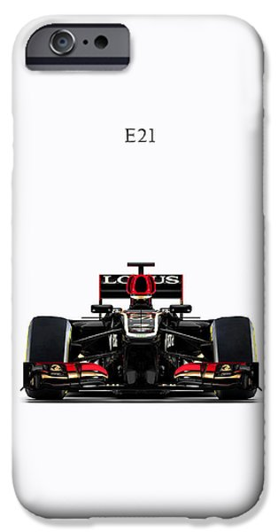 Motor Sport iPhone Cases - Lotus E21 iPhone Case by Mark Rogan