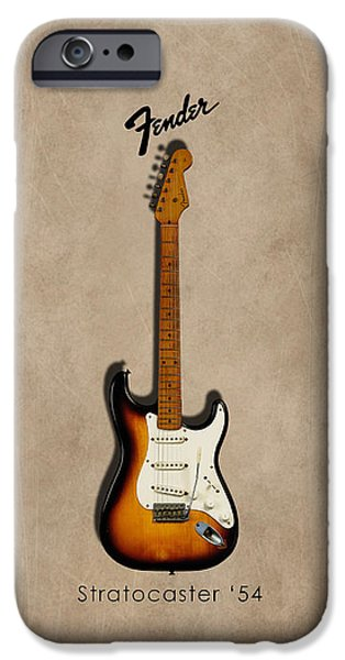 Fish Photographs iPhone Cases - Fender Stratocaster 54 iPhone Case by Mark Rogan