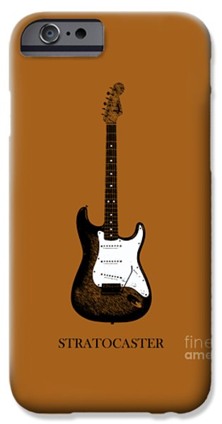 Guitar iPhone Cases - Fender Stratocaster 54 iPhone Case by Mark Rogan