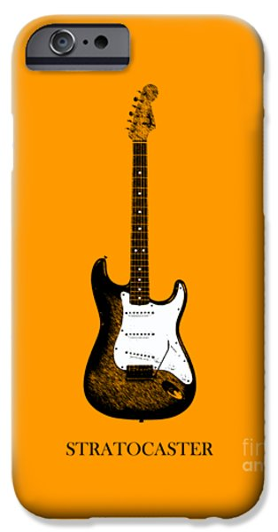 Guitar iPhone Cases - Fender Stratocaster 65 iPhone Case by Mark Rogan