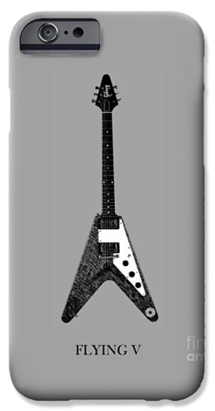 Guitar iPhone Cases - Gibson Flying V iPhone Case by Mark Rogan
