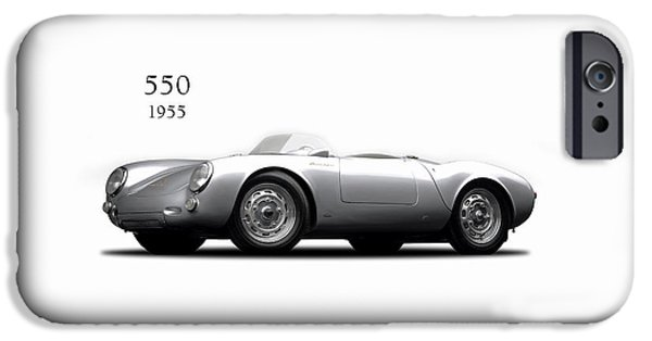 Motor Sport iPhone Cases - Porsche 550 iPhone Case by Mark Rogan