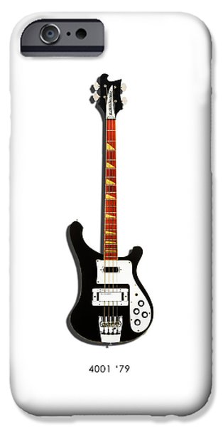 Guitar iPhone Cases - Rickenbacker 4001 1979 iPhone Case by Mark Rogan