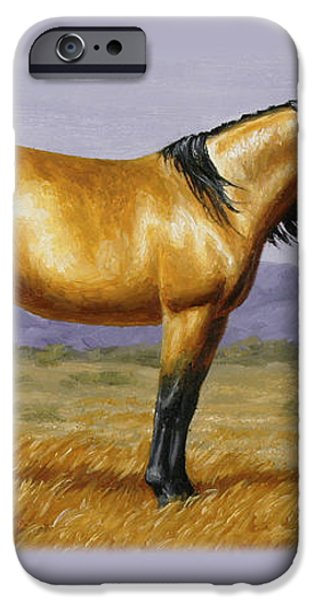 Buckskin Mustang Stallion iPhone Case by Crista Forest