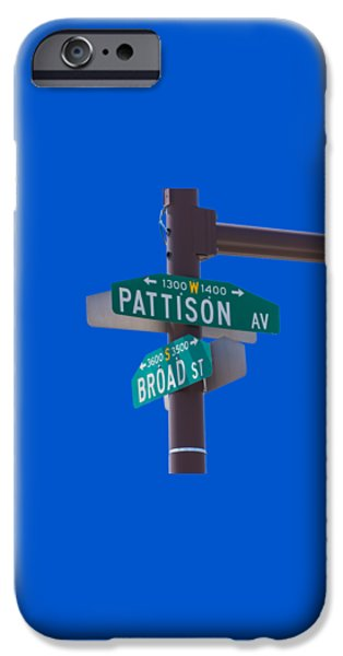 Broad and Pattison Where Philly Sports Happen iPhone Case by Photographic Arts And Design Studio