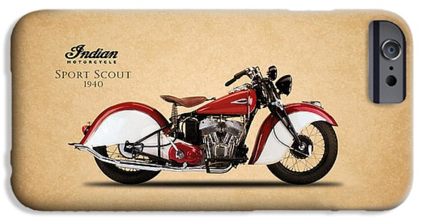 Recently Sold -  - Antiques iPhone Cases - Indian Sport Scout 1940 iPhone Case by Mark Rogan