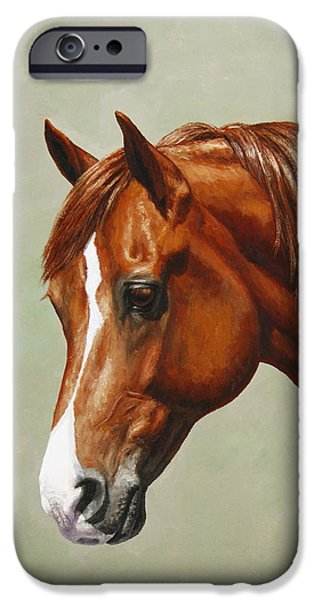 Chestnut Horse iPhone Cases - Morgan Horse - Flame - Mirrored iPhone Case by Crista Forest