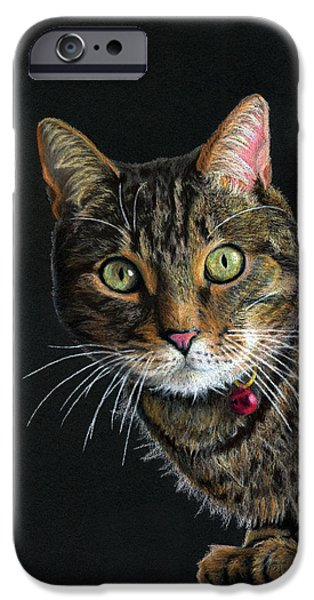 Tiger Art iPhone Cases - Mesmer Eyes iPhone Case by Sarah Batalka