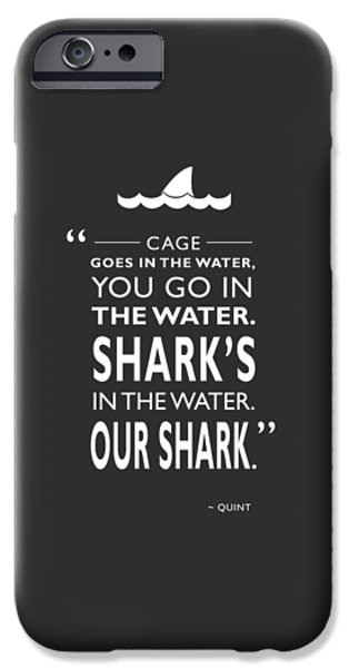 Jaws iPhone Cases - Sharks In The Water iPhone Case by Mark Rogan