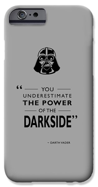 Storm iPhone Cases - The Power Of The Darkside iPhone Case by Mark Rogan