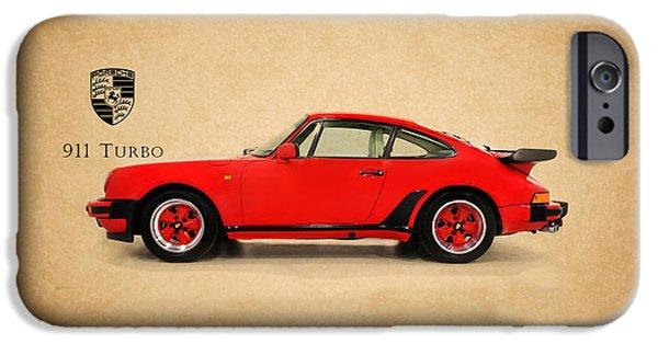 Porsche 911 iPhone Cases - Porsche 911 Turbo 1985 iPhone Case by Mark Rogan