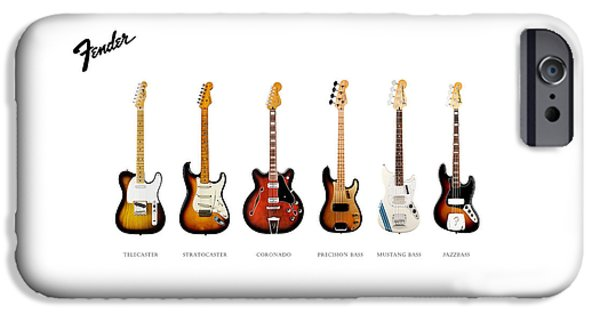Guitar iPhone Cases - Fender Guitar Collection iPhone Case by Mark Rogan