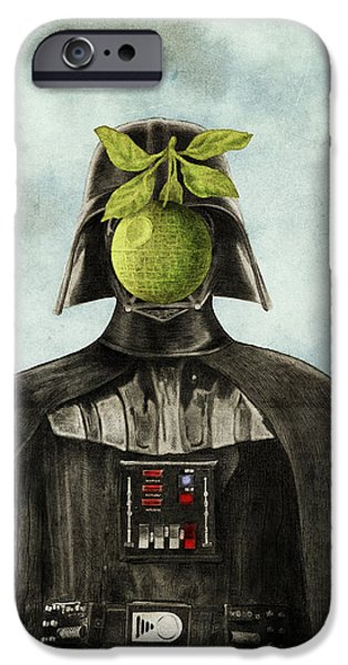 Surrealism Drawings iPhone Cases - Son of Darkness iPhone Case by Eric Fan