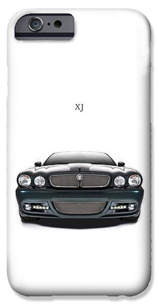 Jaguars iPhone Cases - Jaguar XJ iPhone Case by Mark Rogan