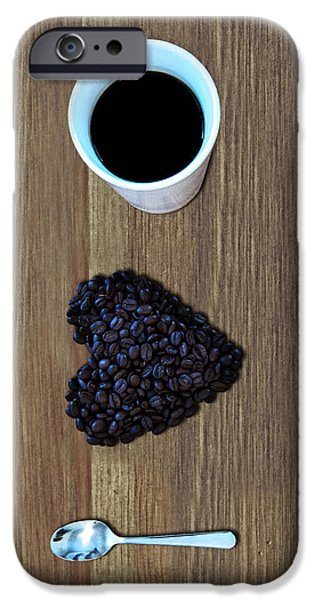 Coffee iPhone Cases - I Love Coffee iPhone Case by Nicklas Gustafsson