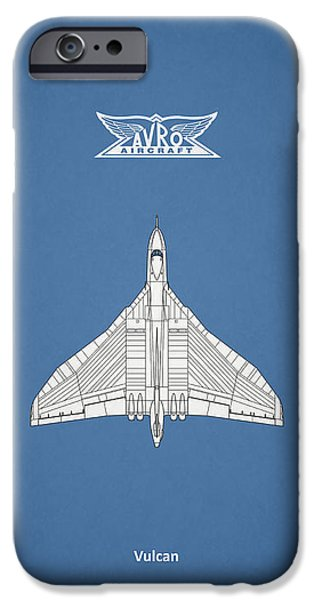 Raf iPhone Cases - The Avro Vulcan iPhone Case by Mark Rogan