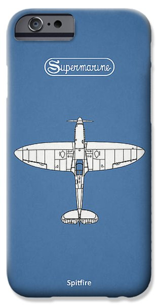 Raf iPhone Cases - The Spitfire iPhone Case by Mark Rogan