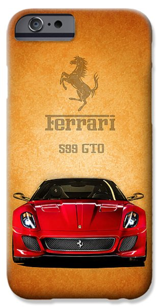 Ferrari Gto iPhone Cases - The Ferrari 599 GTO iPhone Case by Mark Rogan