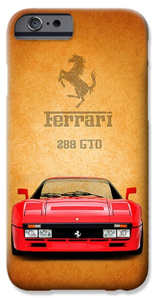 Ferrari Gto iPhone Cases - The Ferrari 288 GTO iPhone Case by Mark Rogan