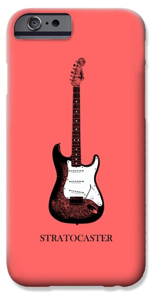 Guitar iPhone Cases - Fender Stratocaster 63 iPhone Case by Mark Rogan