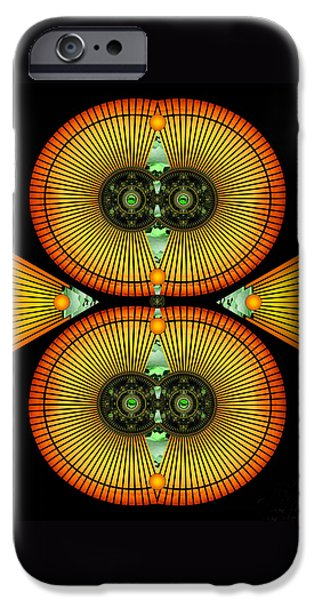 Miracle Digital iPhone Cases - Cosmic Mitosis iPhone Case by Ellen Henneke
