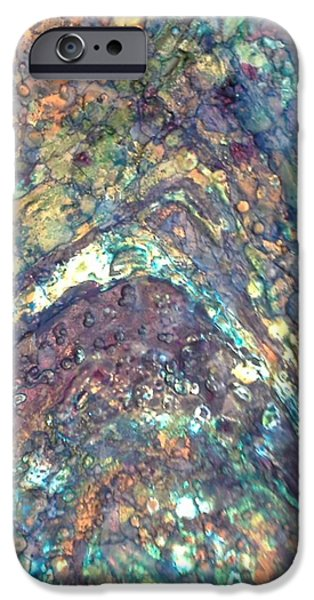 Pastel Tapestries - Textiles iPhone Cases - Ocean Waves 008 iPhone Case by Lori Russell