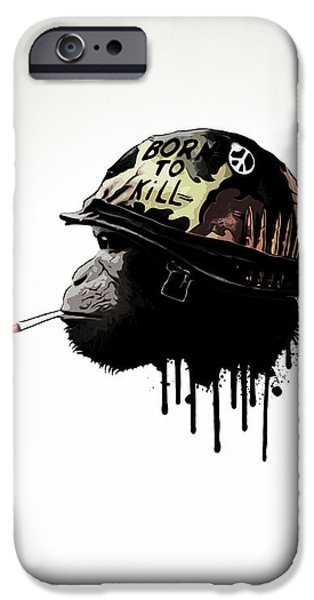 Digital Mixed Media iPhone Cases - Born To Kill iPhone Case by Nicklas Gustafsson
