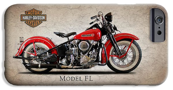 Fl iPhone Cases - Harley Davidson Model  FL iPhone Case by Mark Rogan