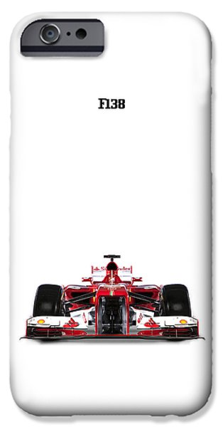 Ferrari iPhone Cases - Ferrari F138 iPhone Case by Mark Rogan
