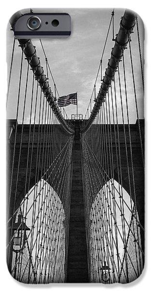 Flag iPhone Cases - Brooklyn Bridge iPhone Case by Nicklas Gustafsson