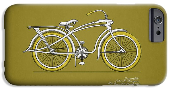 Vintage Bicycle iPhone Cases - Bicycle 1937 iPhone Case by Mark Rogan