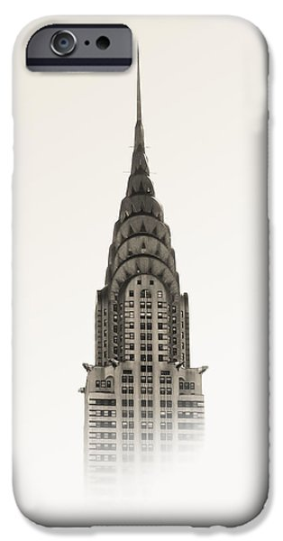 Nyc Mixed Media iPhone Cases - Chrysler Building - NYC iPhone Case by Nicklas Gustafsson