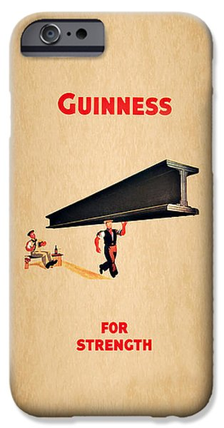 Menu iPhone Cases - Guiness For Strength iPhone Case by Mark Rogan