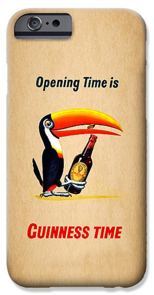 Menu iPhone Cases - Opening Time Is Guinness Time iPhone Case by Mark Rogan