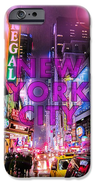 Light Digital iPhone Cases - New York City - Color iPhone Case by Nicklas Gustafsson