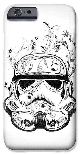 Decorating Mixed Media iPhone Cases - Flower Trooper iPhone Case by Nicklas Gustafsson