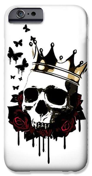 Rose iPhone Cases - El Rey de la Muerte iPhone Case by Nicklas Gustafsson