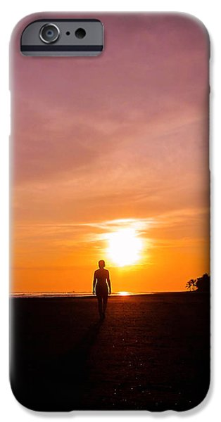Beautiful Girl iPhone Cases - Sunset Walk iPhone Case by Nicklas Gustafsson