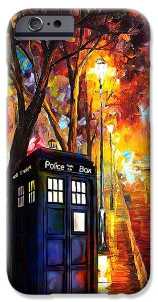 Police Art iPhone Cases - Tardis Art Painting iPhone Case by Koko Priyanto