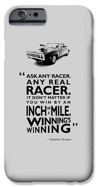 Vin iPhone Cases - Ask Any Racer iPhone Case by Mark Rogan