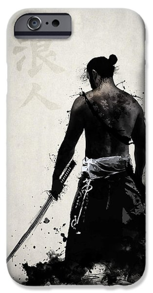 Japanese iPhone Cases - Ronin iPhone Case by Nicklas Gustafsson