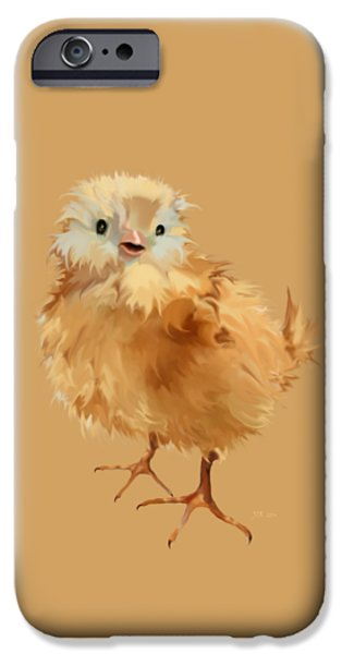 Young iPhone Cases - Cute Chick iPhone Case by Bamalam  Photography