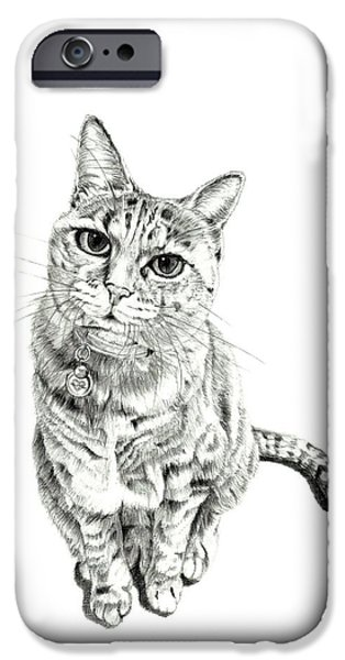 Kobe Drawings iPhone Cases - Welcome Back iPhone Case by Takahiro Yamada